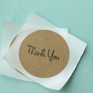 Rustic Thank You Stickers