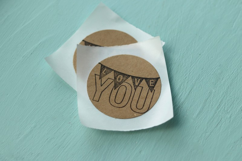 Circle Shaped Love You Stickers