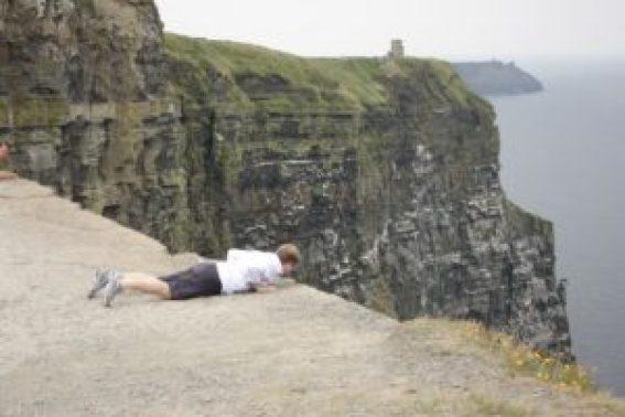Peak Over the Cliffs of Moher in Ireland