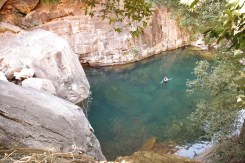 Turquoise Pool. Perfect spot to swim before the Waterfall