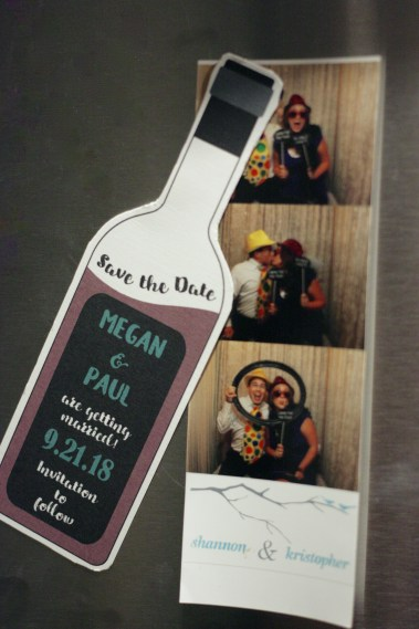 Fun Shaped Save the Date Wine Bottle