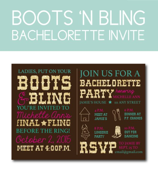 Country Themed Bachelorette Invite