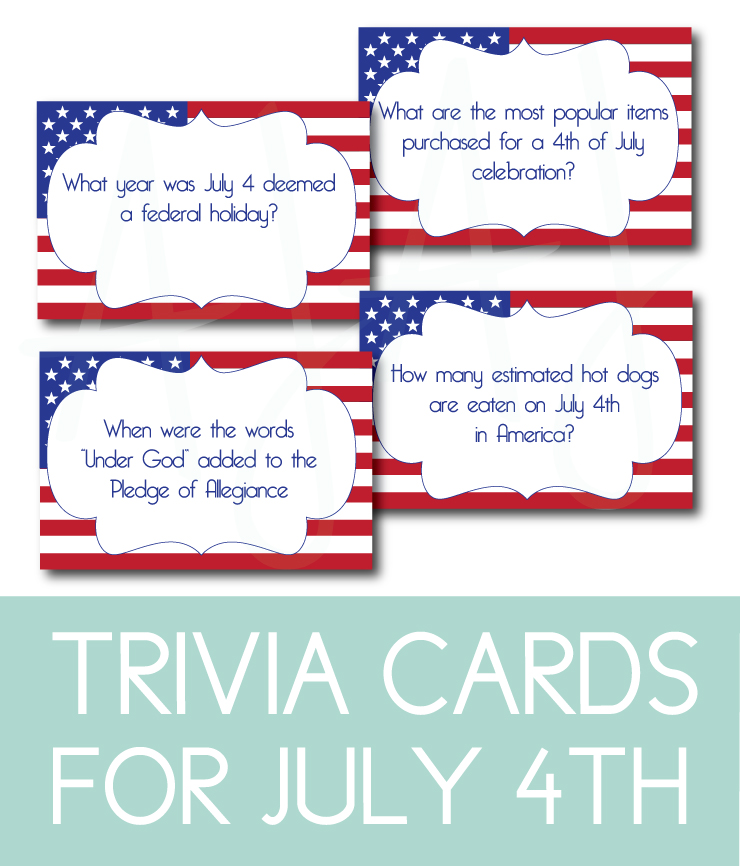 picture about 4th of July Trivia Printable titled patriotic Archives - AJ Layout + Images