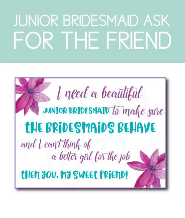 Junior Bridesmaid Ask Card