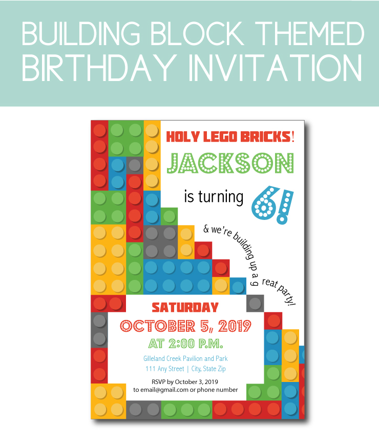 Building block birthday party