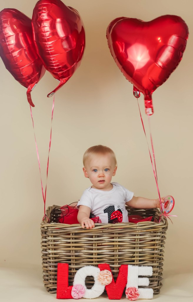 Love Themed 1st Birthday Photoshoot