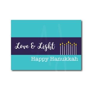 Love and Light Hanukkah Card