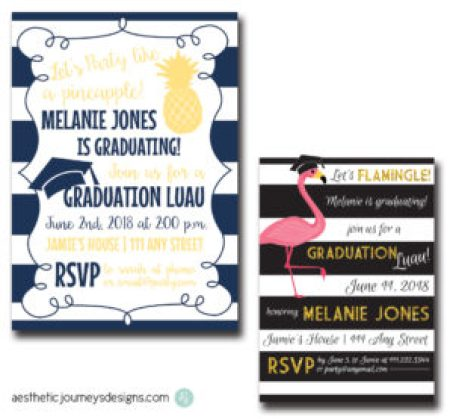 Luau Graduation Invites