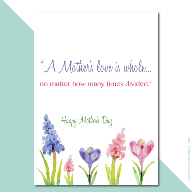Simple and sweet quote for Mother's Day