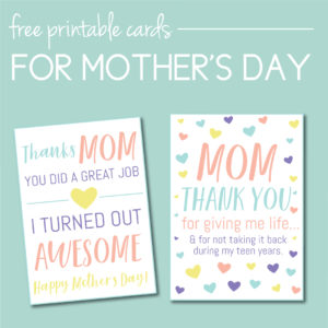 Download free Mother's Day Cards on the Journey Junkies Page!