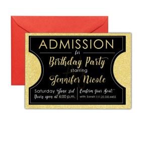 Movie Ticket Party Invite