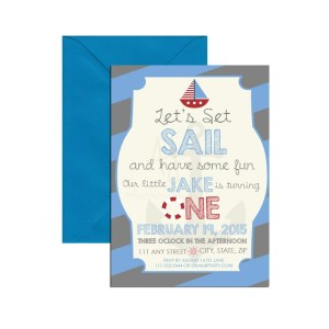blue nautical themed invite