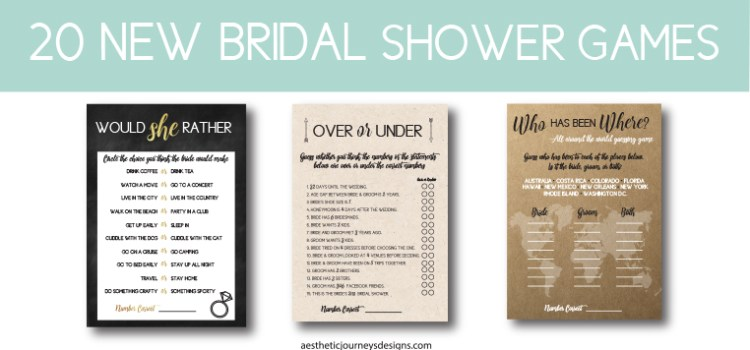 20 New Bridal Shower Games
