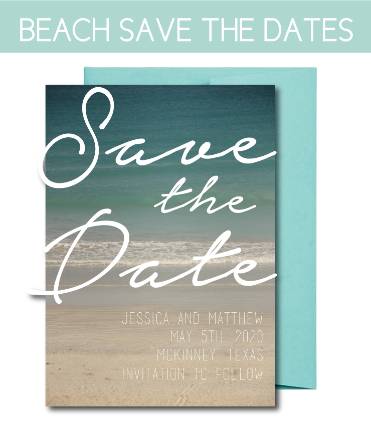 Beach themed Save the Dates