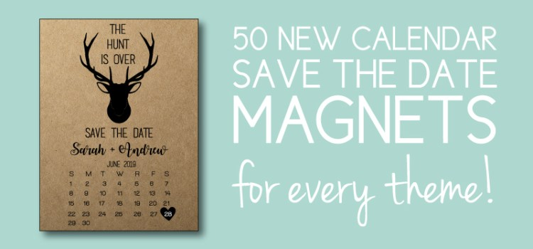 New Calendar Save the Date Magnets