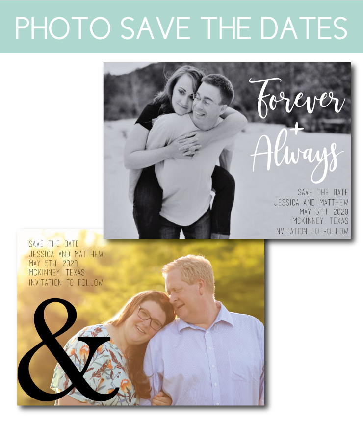 New Photos Save the Date Cards or Magnets