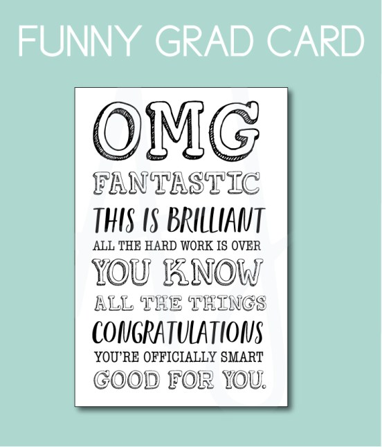 Funny Graduation Card for the Class of 2019