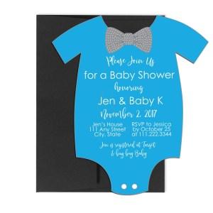 onesie baby invite