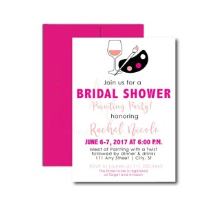 Painting Bridal Shower Invite