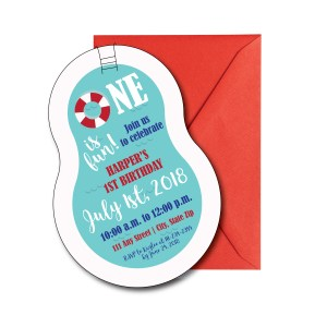 Pool Shaped Party Invite