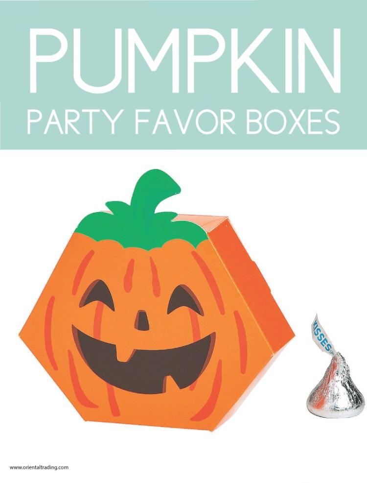 party favor boxes in pumpkin shape