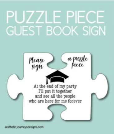 Puzzle Piece Guest Book Sign