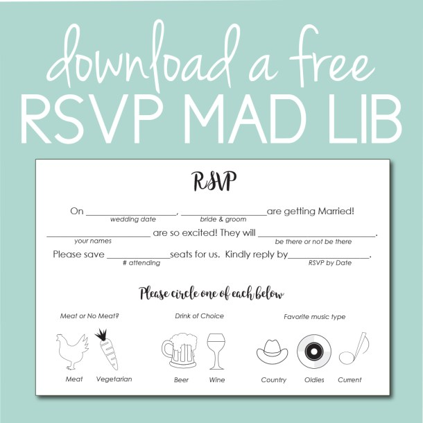 Download free Mad Lib RSVP