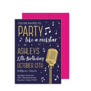 Rockstar Party Invite