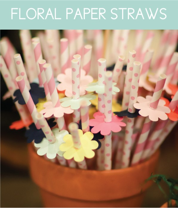 Easy Floral Straws for a Garden Party