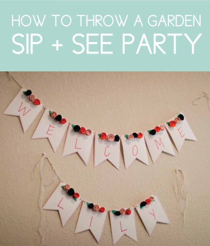 How to Throw a Garden Sip and See Party