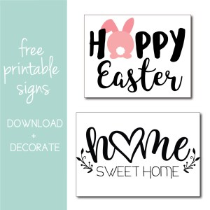 Download free signs for your own spring decorating ideas on the Journey Junkies page!