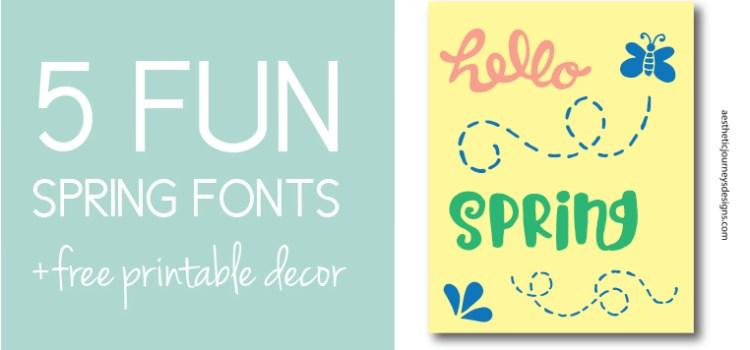 5 Spring Fonts