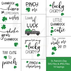 These St. Patrick's Day SVG Files are perfect for your St. Paddy's Crafts.