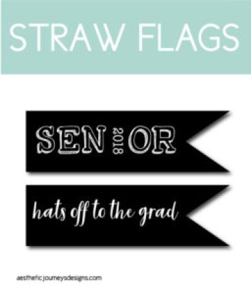 Printable Flags for Straws