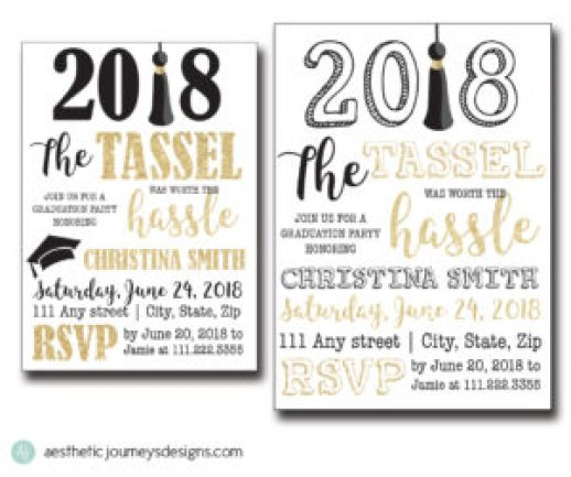 Tassel was Worth the Hassle Invites