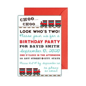 Train Party Invite