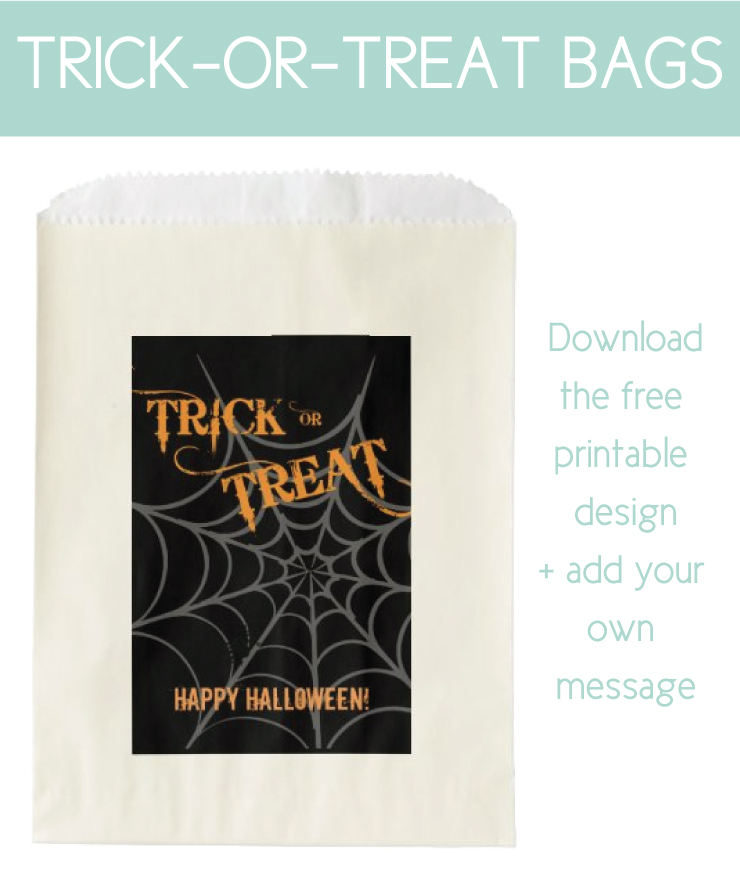 personalizable trick or treat bags