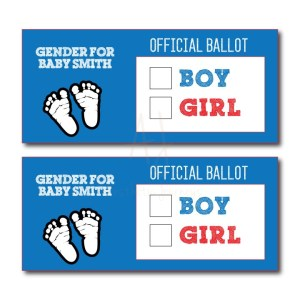 Gender Reveal Voting Cards