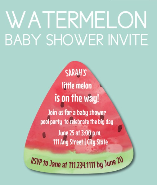 Watermelon Baby Shower Invite