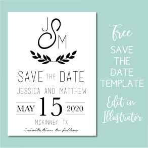 Download a free wedding save the date template