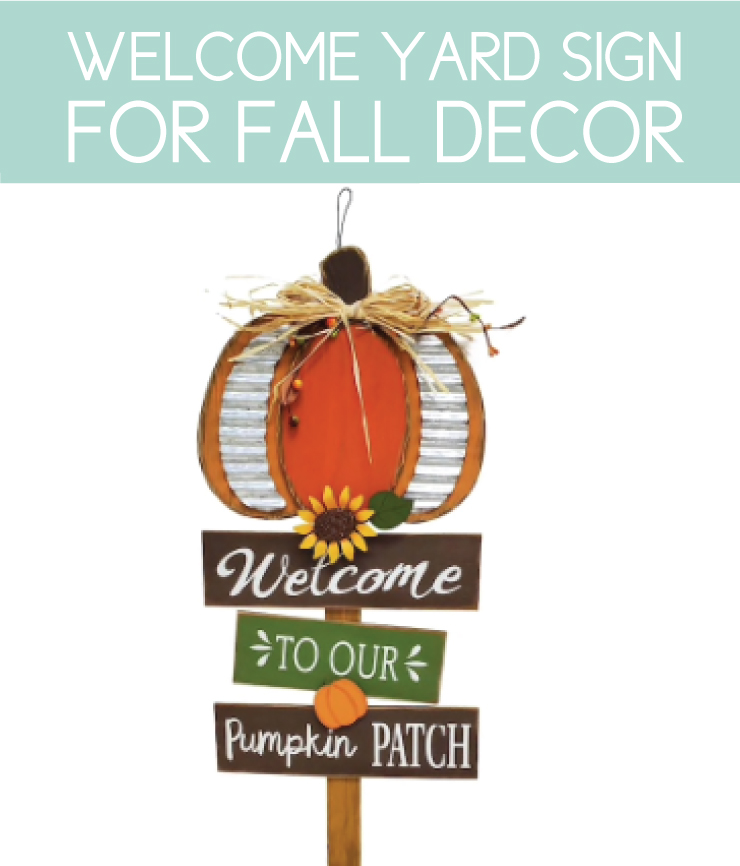 fall yard stake welcome sign