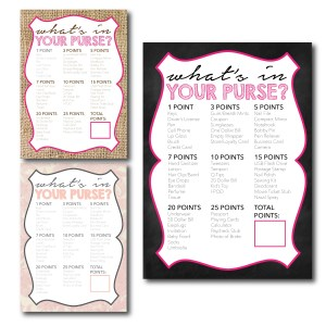 What's in Your Purse Printable Game
