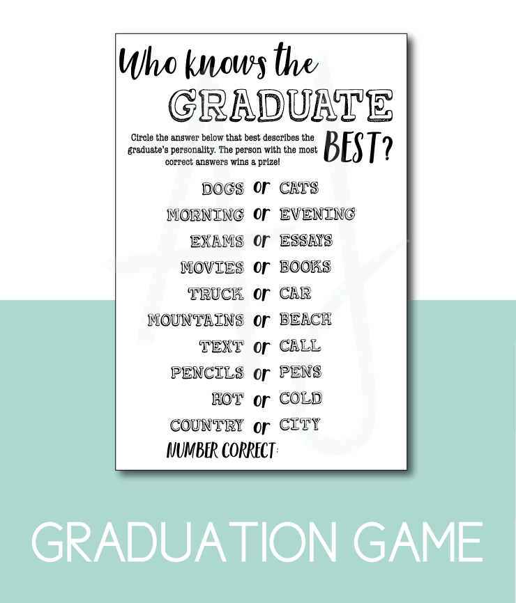 Who Knows the Grad Best Party Game