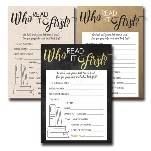 Who Read It First Bridal Shower Game