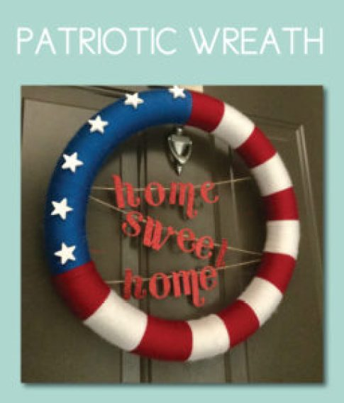 Patriotic Home Sweet Home Wreath