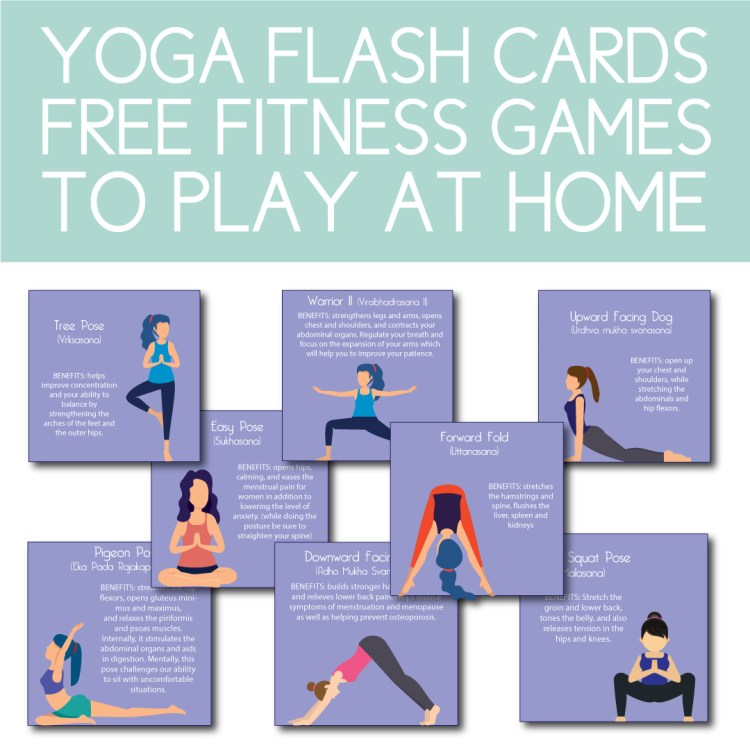 Yoga Themed Flash Card Game to Play at Home