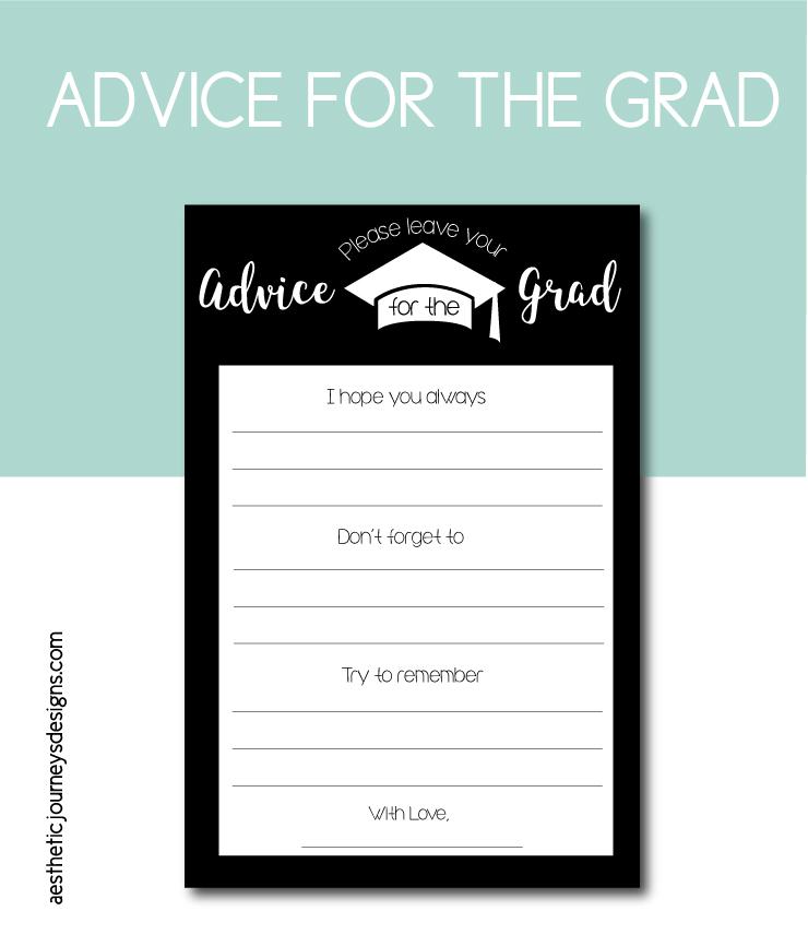 Advice Card for the Graduate