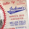 Baseball, Vintage Invitation with Personal Photo   Printed Birthday Invites with Envelopes   Custom Colors Available