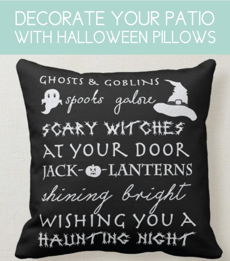 halloween pillow with fun sayings