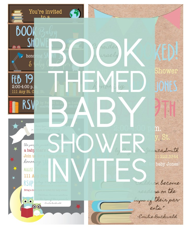 Book baby shower invitation ideas